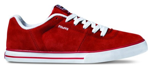 Duffs Tierra Red Vegan Skate shoe