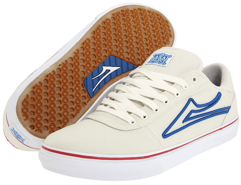 Vegan Lakai White and Royal Blue