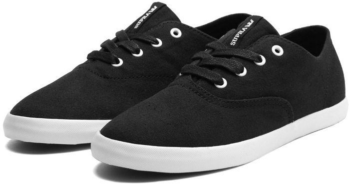 Black Vegan Supra Skateboard shoes