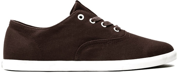 Brown Canvas vegan skateboard shoes