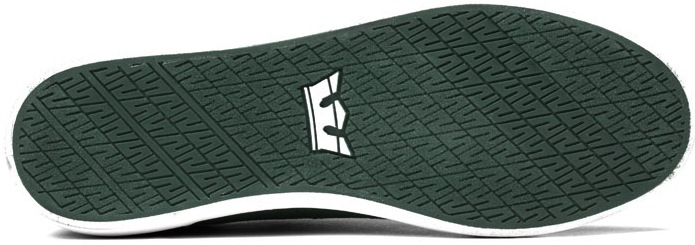 Green Canvas Vegan Skateboard Shoes from Supra