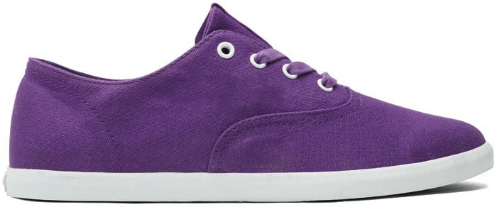 Purple Canvas Vegan Skateboard Shoe