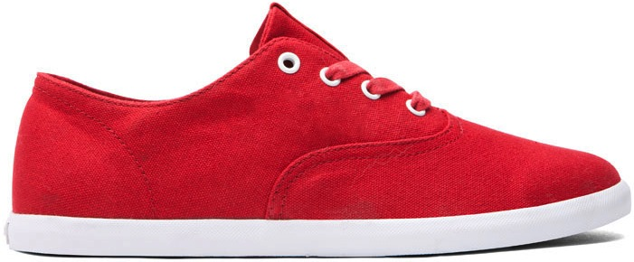 Red Canvas Vegan Skateboard Shoe