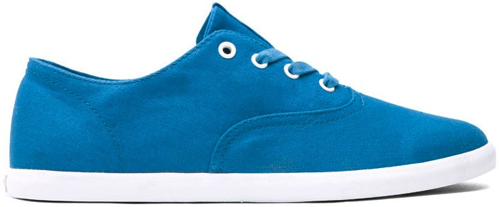 Royal Blue Canvas Vegan Skateboard Shoe