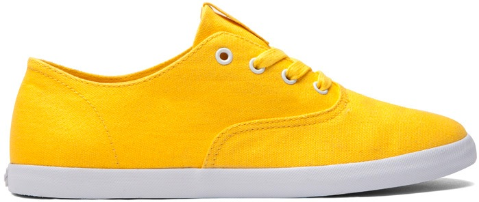 Yellow Canvas Vegan Skateboard Shoe