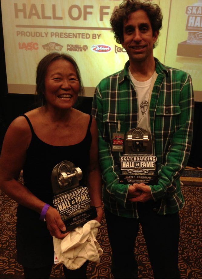 Peggy Oki, Glen E. Friedman, Skateboard Hall of Fame
