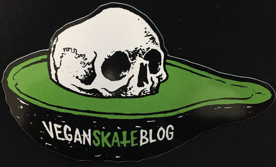 Avocado Skull Pit Sticker Vegan skate blog