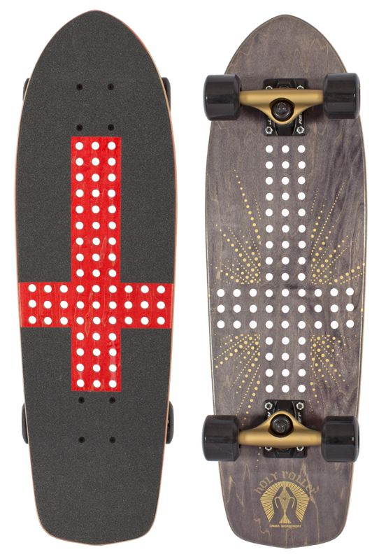 Alien Wrokshop Holy Roller upside down cross skateboard