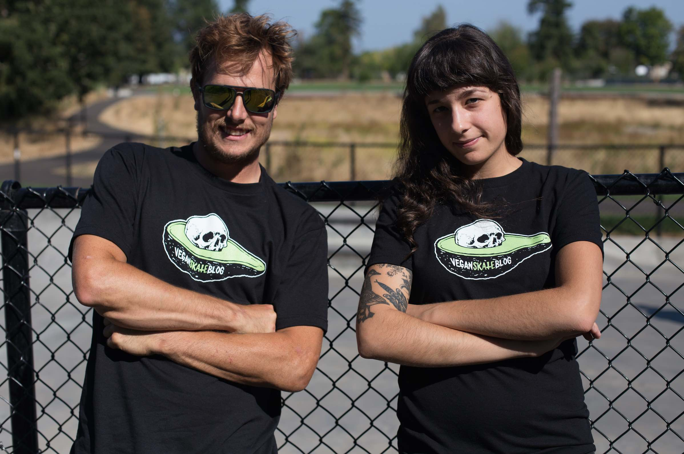 Vegan Skate Blog T-Shirts Avocado Skull