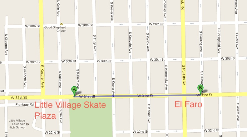 Little Village Skateboard Plaza Skate Park Chicago