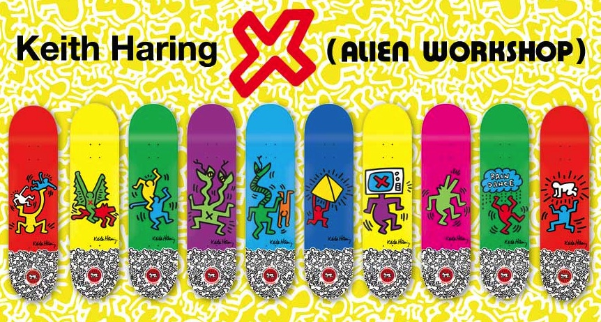 Keith Haring Skateboards with AlienWorkshop