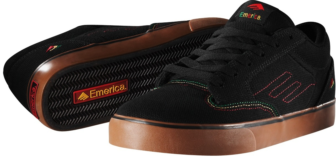 Emerica Jinx Vegan Skateboard Shoes Rasta