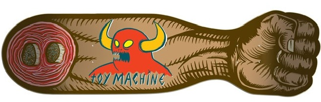 Toy Machine Fist of Fury Skateboard Deck cruiser board