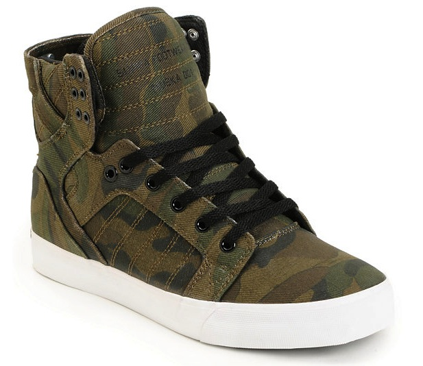 Supra Vegan Skateboard shoes, Skytop Camo