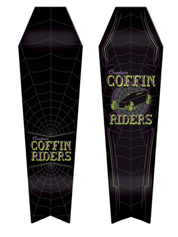 Creature Coffin Riders skateboard decks everslick