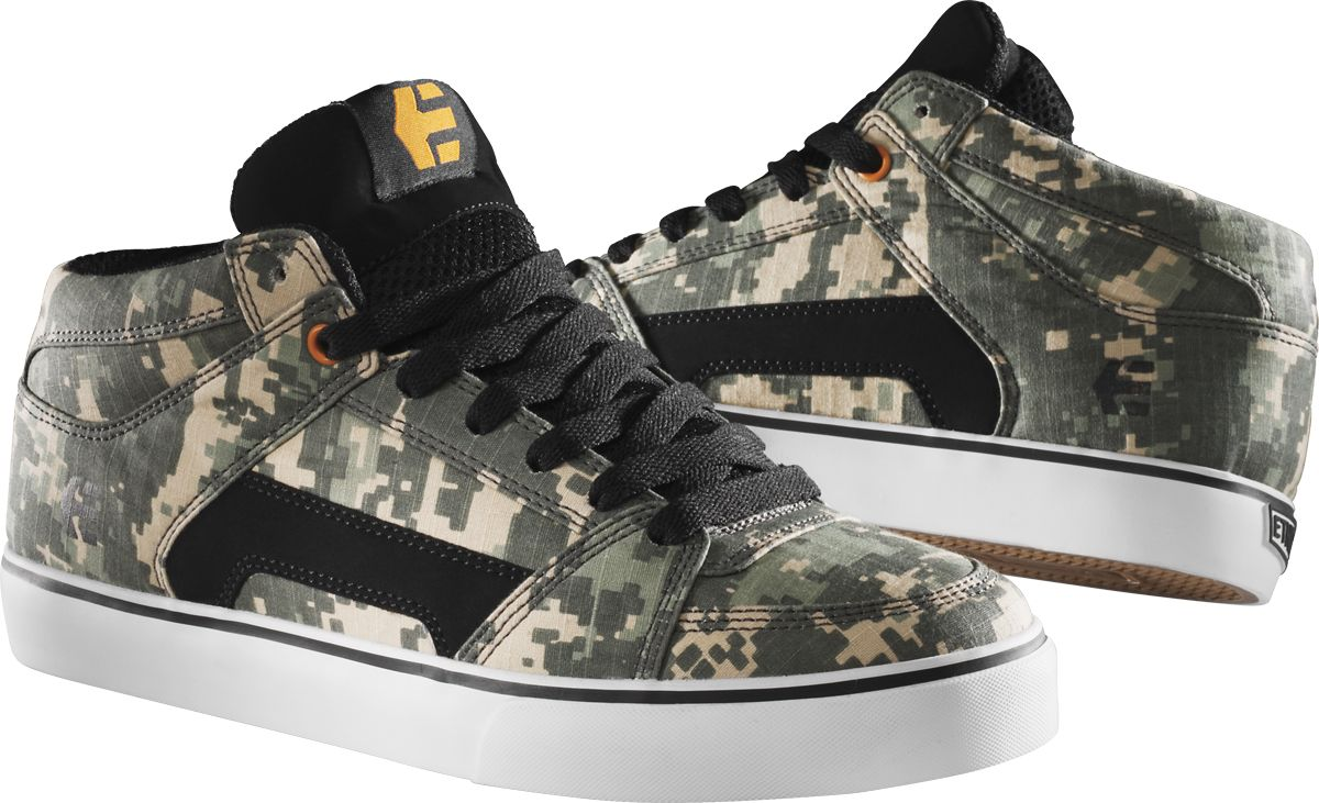 Etnies RVM Vegan Skateboard shoe Camo Canvas