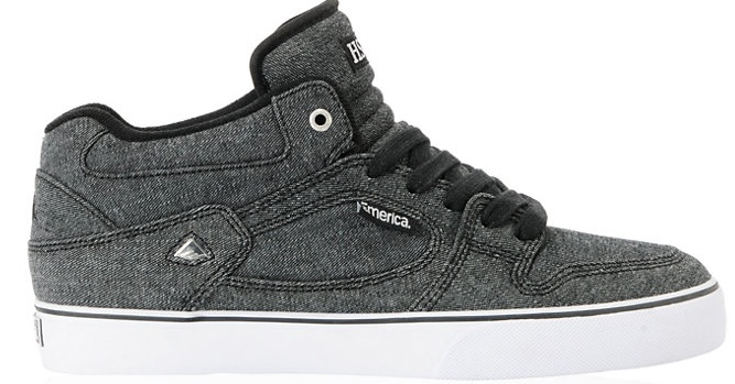 Emerica Hsu Zumeiz Black Denim Vegan Skateboard shoe