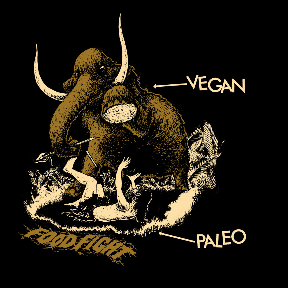 Vegan verse Paleo Food Fight! T-Shirt