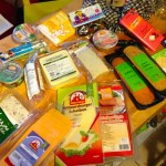 Smuggled vegan cheese and vegan meats plus assorted sweets from Veganz