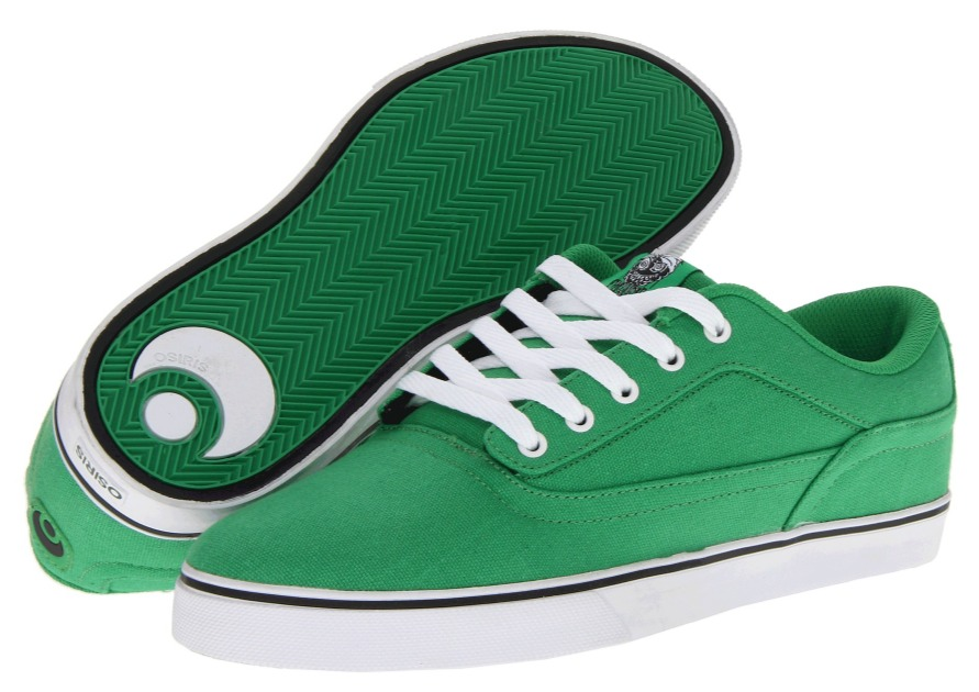 Osiris Caswell VLC green Vegan skateboard shoes