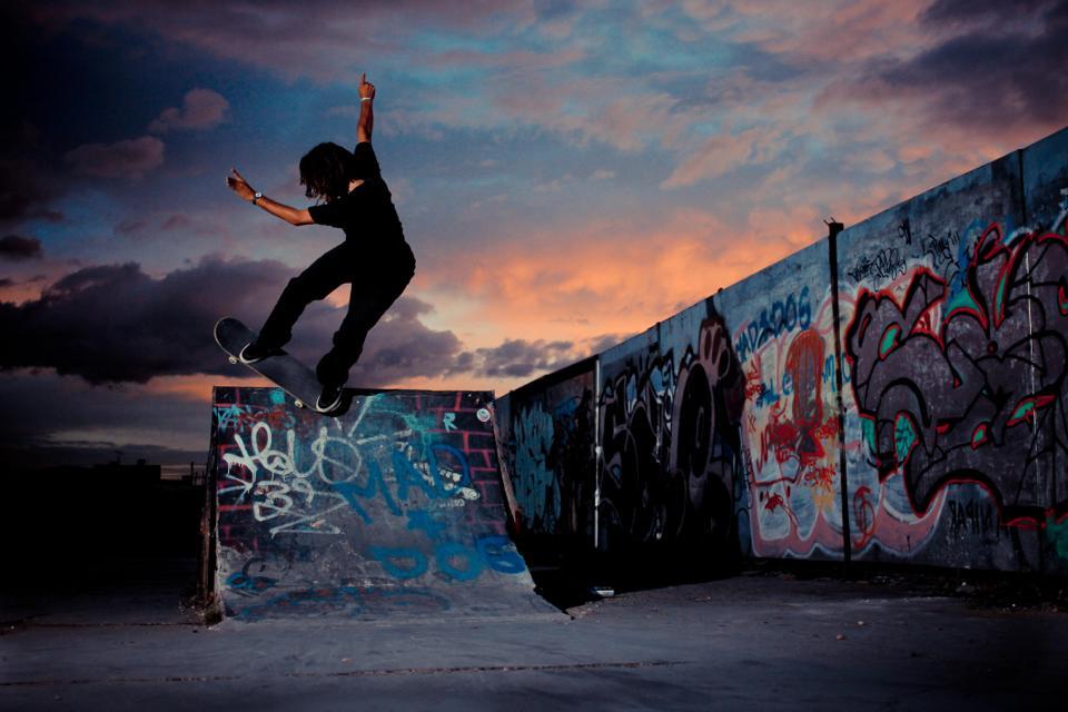 Vegan Skateboarder Vernon Laird