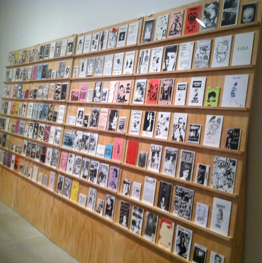 the wall of zines was massive and impressive