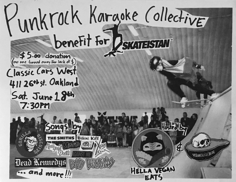 Punk Rock Karaoke Skateistan vegan skateblog DLXSF Hella Vegan Eats