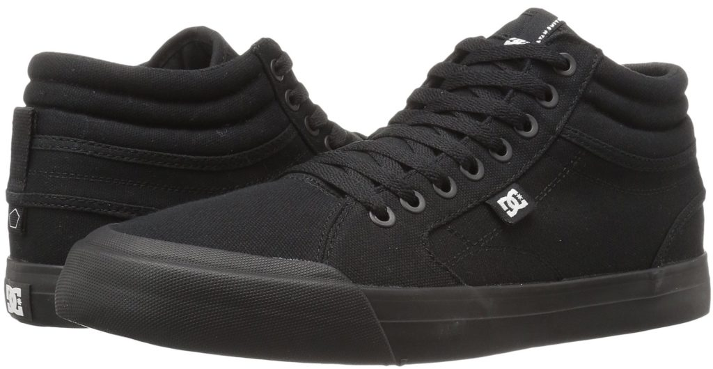 DC Evan Smith Vegan Skateboard Shoes Canvas Hi-top all black